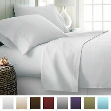 600 Thread Count 4pc Bed Sheet Set Egyptian Cotton Deep Pocket - All Sizes, 12
