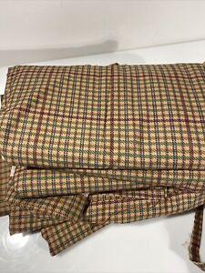 Ralph Lauren Lot of 5 Full Size Flat Sheets Churchill Plaid Tattersal USA