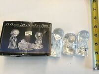 "Precious Moments-Enesco Crystal Nativity Scene ""O Come Let Us Adore Him"""