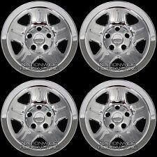 "4 CHROME 93-06 Jeep Wrangler Cherokee 15"" Wheel Skins Hub Caps Wheels Rim Covers"