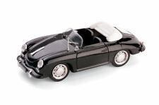 PORSCHE 356 C CABRIOLET 1963-65 NERO 1:43 MODELLINO AUTO BRUMM SCALA