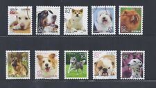 Japan 2017 Familiar Animals Dogs Complete Used Set of 10 Sc# 4159 a-j 82Y