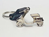 VESPA 3D Mental  Scooter Genuine Leather Keychain Collectible Gift Motorcycle