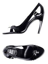 Roger Vivier Women Shoes Size 39.5 NIB Heels Black Patent Leather