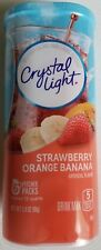 NEW CRYSTAL LIGHT STRAWBERRY ORANGE BANANA DRINK MIX 12 QUARTS FREE SHIPPING