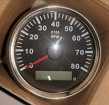 Tachometer Universal for car, Motorcycle, Boat, Trucks, Boats with hour meter