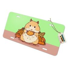 Hamster Eating Stash of Food Novelty Metal Vanity Tag License Plate