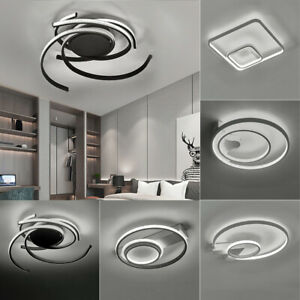Modern Ceiling Lights Alumin White Shade Chandelier Living Room Fitting Lighting