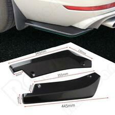 2x Universal Gloss Black Rear Bumper Lip Winglets Side Skirt Extensions NEW
