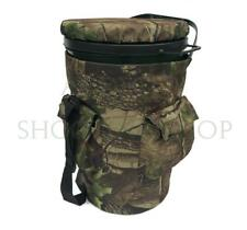 Extra Tall Bucket Seat Swivel Spinning Seat Pigeon Shooting Hide Camo Drum chair