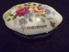 Porcelain Floral Cheverny Lidded Trinket Holder Limoges France