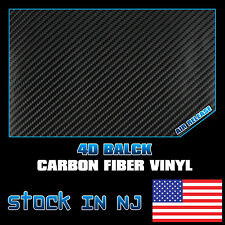 72''x60'' Car Roof Hood Black Air Free 4D Carbon Fiber Wrap Vinyl Film Sticker