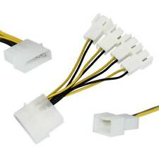 1PC SATA 4Pin To 3Pin Wire Lead Extension Cables PC Computer Adapt Fan Splitter