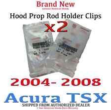2004- 2008 Acura TSX Genuine OEM Hood Prop Rod Holder Clips  (91503-SS0-003 x 2)