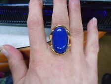 COLBOLT CABOCHON RING, AMAZING SPLIT TWO ARM GOLDEN BRACE & LOOP, SIZE L3/4