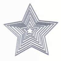 8X Stars Metal Cutting Dies Stencil Scrapbook Album Paper Card Embossing Craft