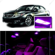 For Honda Accord 2003-2012 Pink LED Interior Kit + Pink License Light LED