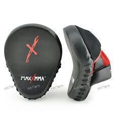 MaxxMMA Pro. Punch Mitts Black/Red - Boxing Punching MMA Training Fitness
