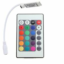 24 Tasten Mini IR Remote Controller fuer RGB LED Strip Streifen DKVW