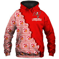 Tampa Bay Buccaneers Hoodie Hooded Pullover Sweatshirt S-5XL Football Team Fans