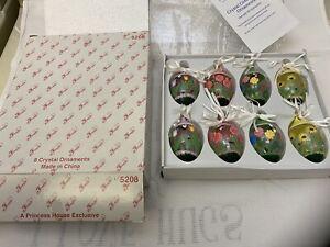 5208 Princess House Crystal Centerpiece Ornaments Set 8 NIB Discontinued HTF