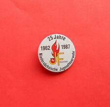 1962-1987 JF Holzminden 25 Jahre Niedersächs. Jugendfeuerwehr - Button 3,7 cm