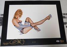 Olivia de Berardinis Signed Blue Note 16x20 Fine Art Print PSA/DNA COA Playboy