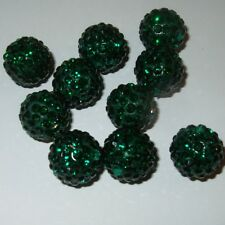 5 X ROUND SHAMBALLA CRYSTAL PAVE CLAY DISCO BALL BEADS 6mm 8mm 10mm 12mm 14mm B2
