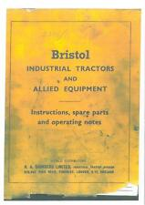 Bristol Industrial Tractor 25 Angle-Dozer Operators & Parts Manual