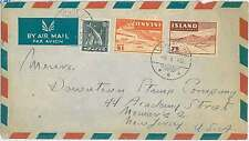 AIRPLANES  FISH: POSTAL HISTORY : ICELAND - stamps on COVER 1948