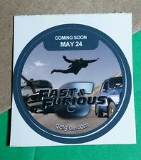FAST & FURIOUS 6 HIGHWAY JUMPING CAR MOVIE GET GLUE STICKER