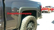 SET of 4 SMOOTH BLACK FENDER FLARES FOR 2014-2019 CHEVY SILVERADO 1500/2500/3500