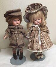 "K*R 114 ""Hans and Gretchen"" 14 "" Antique Reproduction Dolls-all porcelain"