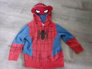 Leichte Kapuzenjacke Spiderman Gr. 98 mit Augen in der Kapuze C&A Junge Sommer