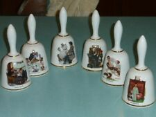 Vintage 1976 Danbury Mint Limited Edition Norman Rockwell Bell Series Set of 6