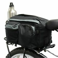 Bicycle Rear Rack Pack Tail Top Bag Seat Storage Bike Cycle Commuter Outdoor UK