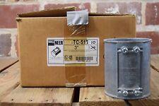 """Box of 10 Neer TC-518 3"""" Zinc Die-Cast Set Screw Couplings"""