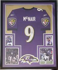 Steve McNair Autographed Signed Jersey Framed Baltimore Ravens Titans JSA