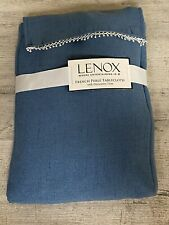 "New ListingLenox French Perle Solid 60""x84"" rectangle Tablecloth, Blue New"