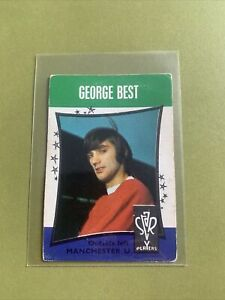 A & B C GUM STAR PLAYER  GEORGE BEST OF MAN UTD ROOKIE CARD NO 13 FROM 1967