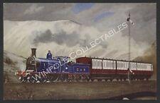 Railways, C.R., No 123, Carlisle-Glasgow Train, Eric Oldham, Postcard. (3627)