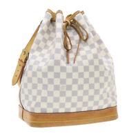 LOUIS VUITTON Damier Azur Noe Shoulder Bag N42222 LV Auth 18779