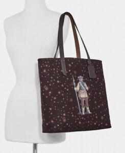 Coach Star Wars X Tote /W Starry Print Princess Leia as Boushh New