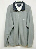 Vintage 90s Polo Sport Ralph Lauren Spell Out Size 2XL XXL Gray Full Zip Jacket
