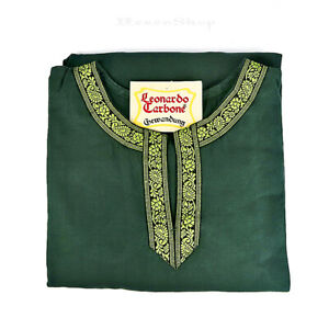 Tunika mit Bordüre in grün, Wikinger Mittelalter Gewandung LARP