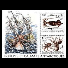 TAAF 2020 - Octopus and Squid Block Antarctica Fish Ship  - MNH