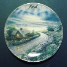 """Limited Edition Collector's Plate By Thomas Kinkade """"March-Emerald Isle Cottage"""""""