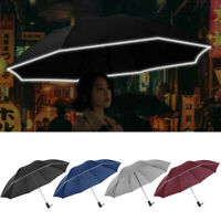 1PC Automatic Umbrella Reverse Folding Business Umbrella With Reflective Strips