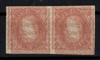 133256/ SPAIN – ALLEGORY VARIETY – EDIFIL # 108 PAIR MNG DOUBLE PRINTING