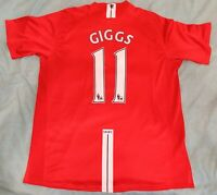 Nike Manchester United Giggs no11 2007 2008 Home Shirt Size XL *Good Condition*